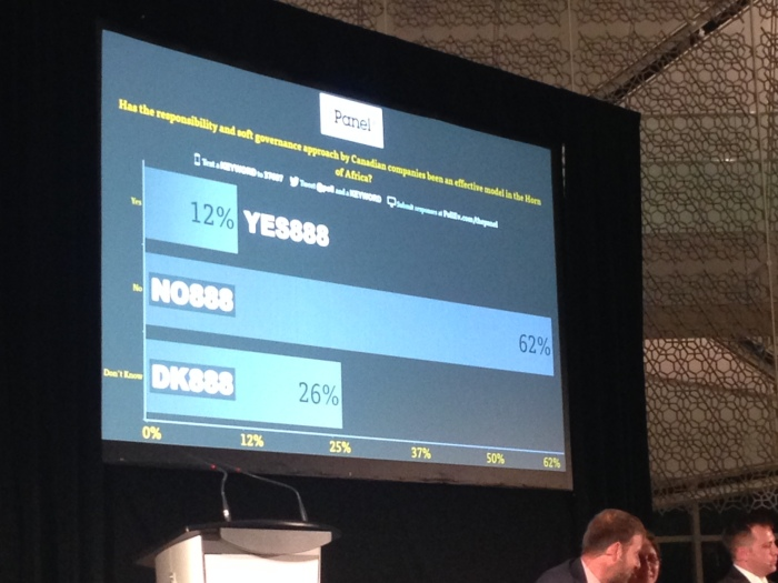 The event was made very interactive with the use of these real-time audience polls (photo: Gabrielle Bishop)
