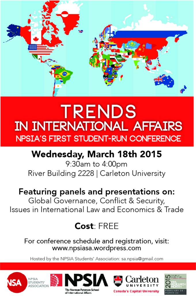 NSA - Trends in In'tl Affairs - Conference Poster