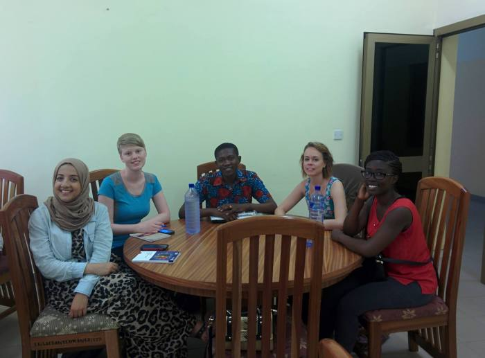 NPSIA Students with a local student in Ghana