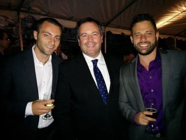 Michael meeting Jason Kenney with fellow NPSIA PhD student Uri Marantz