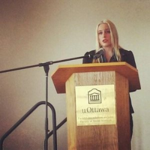 Julia speaking at the University of Ottawa