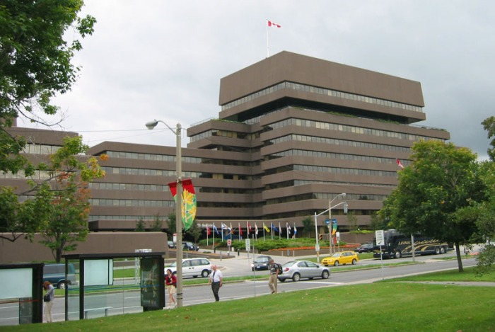 125 Sussex Drive, Lester B. Pearson Building, where Manal works