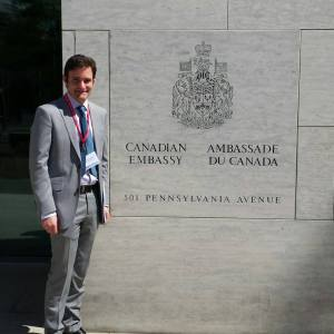 After our tour of the Canadian Embassy on NPSIA's annual D.C. trip