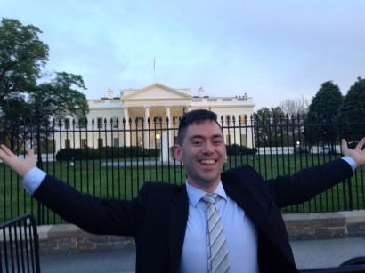 Brandon doing some reconn on NPSIA's annual trip to Washington, D.C.