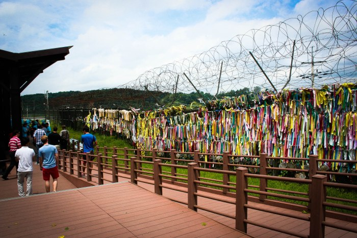 Unification ribbons at the DMZ (Photo: Gabrielle Bishop, 2013)