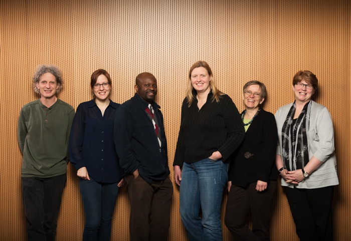 Sarah (second from left) and her research team